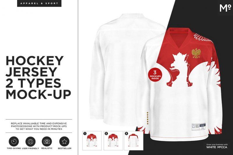 Hockey Jersey Presentation PSD