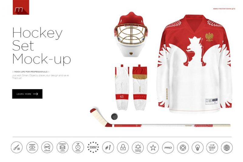 Hockey Set Mockup PSD