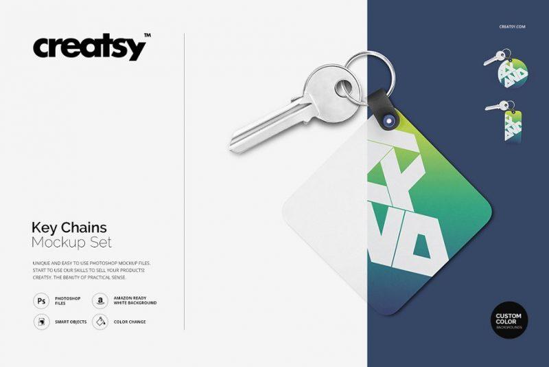 Hotel Keychain Branding Mockup