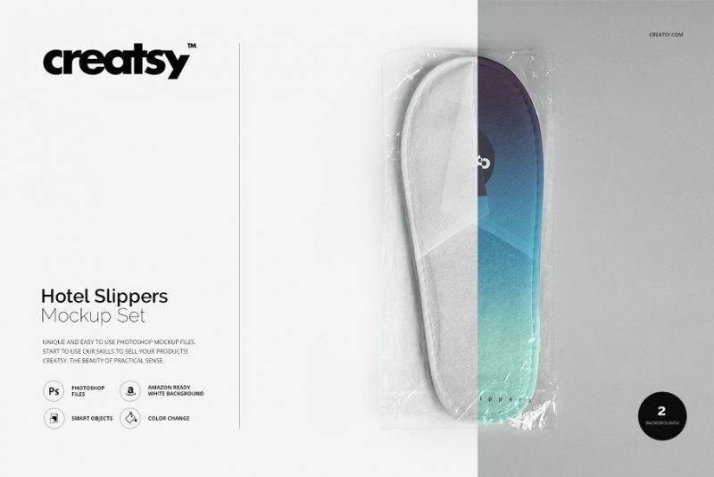 Hotel Slippers Branding Mockup