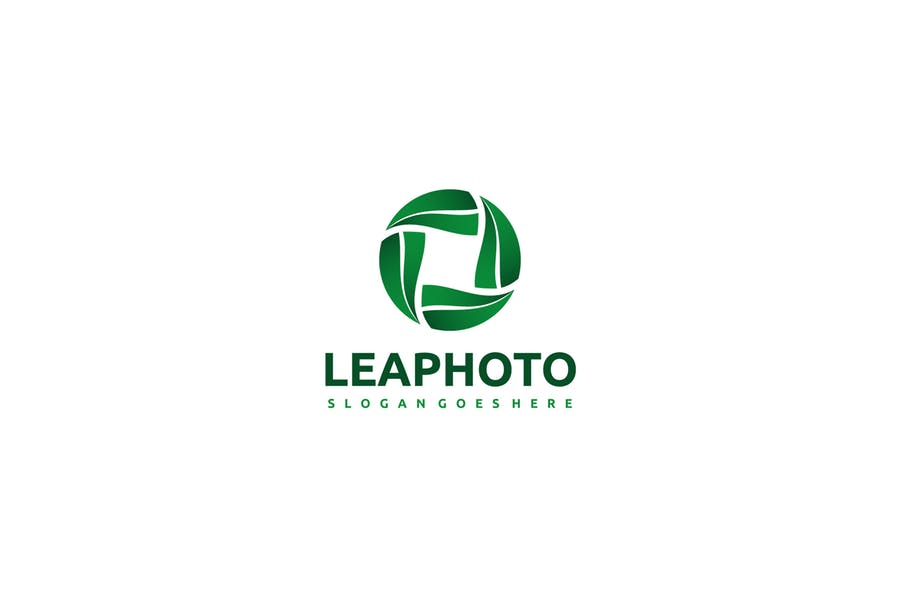 Leaves Style Camera Logo