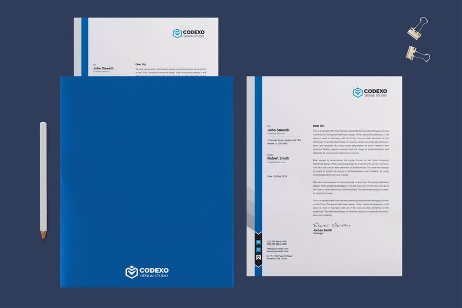 Letterhead Folder Mockup PSD