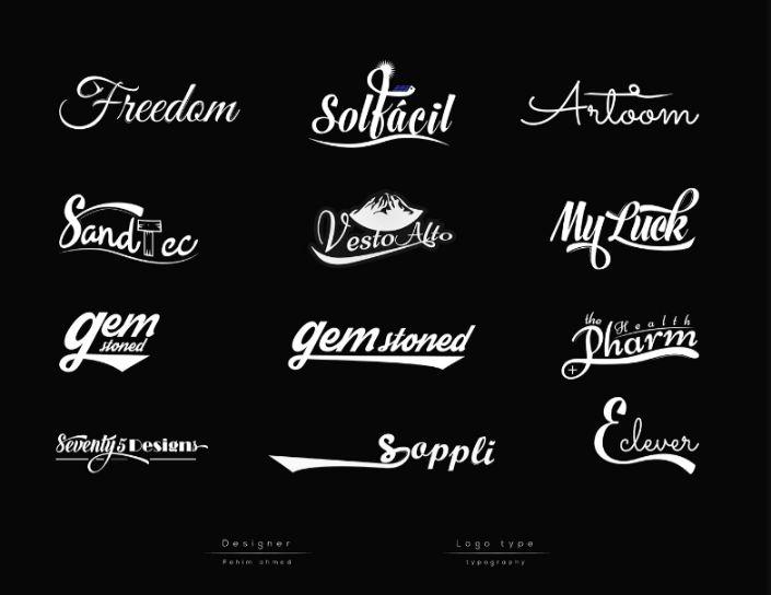 Lettering Logo Branding Design