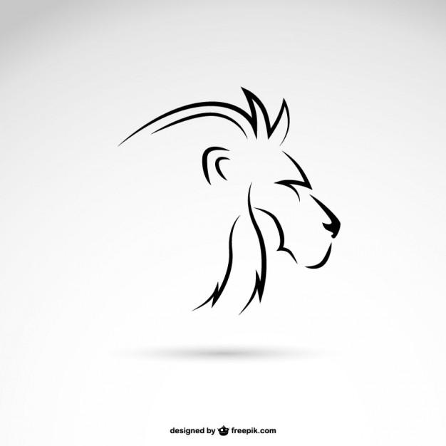 Line Lion Logo Design