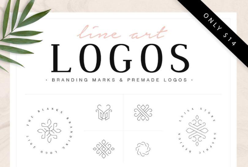 Line Logo Branding Design