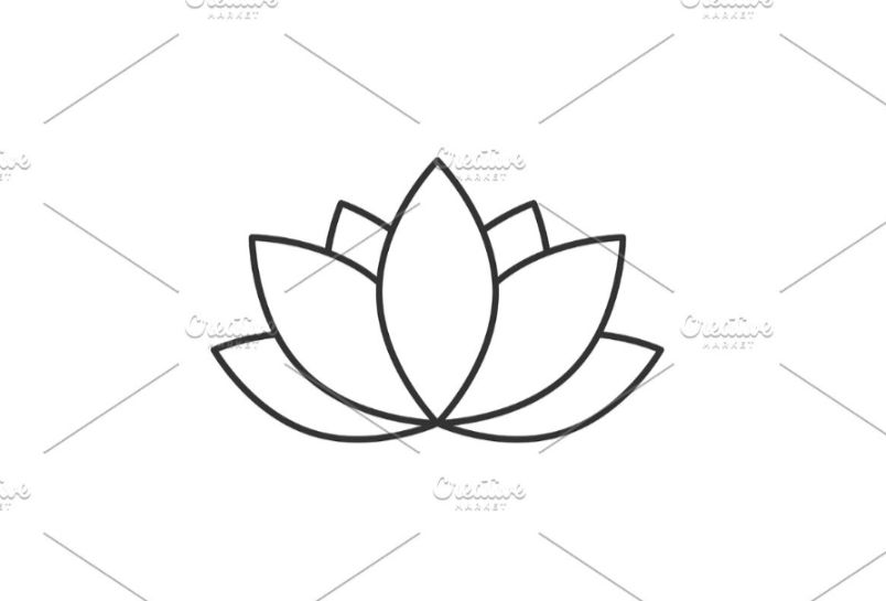 Linear Salon flower Template