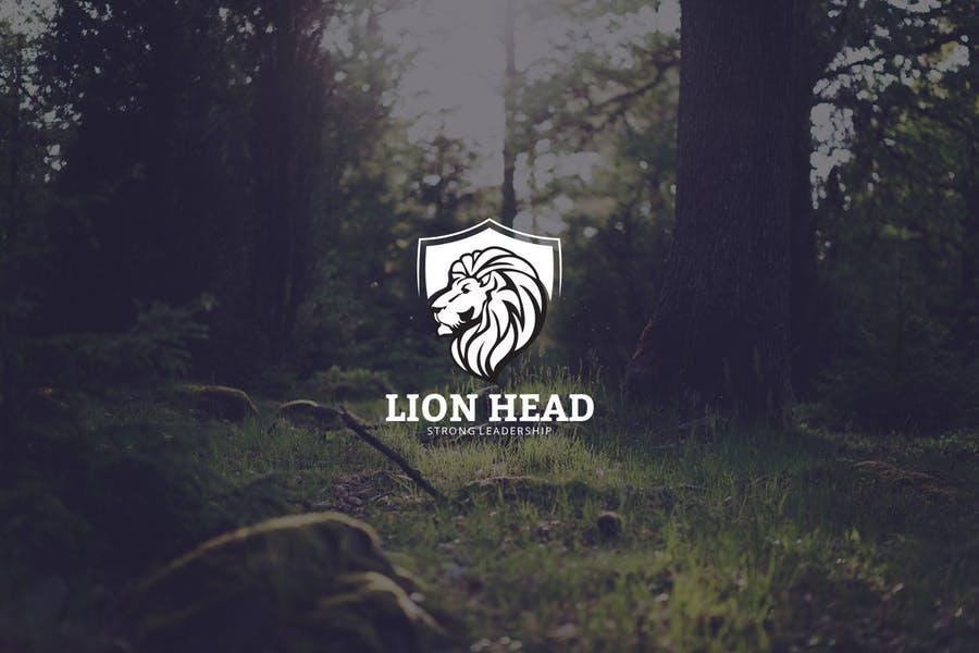 Lion Head Branding Logo