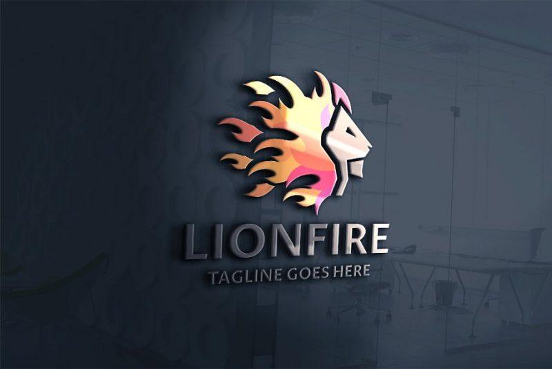 Lion on Fire Brand Design