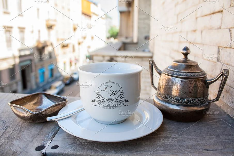 Logo, Emblem, Mock Up on Coffee cups