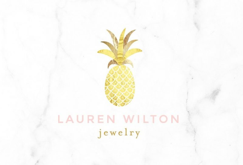 Luxury Pineapple Logo Deign