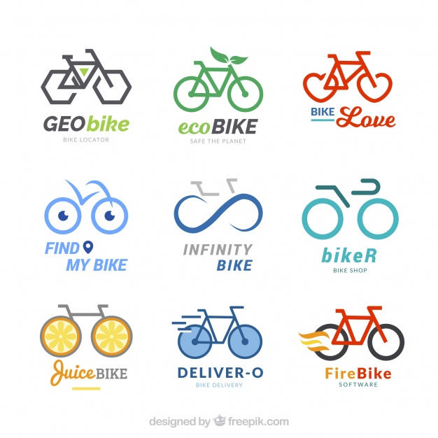 Modern Bicycle Logo Set