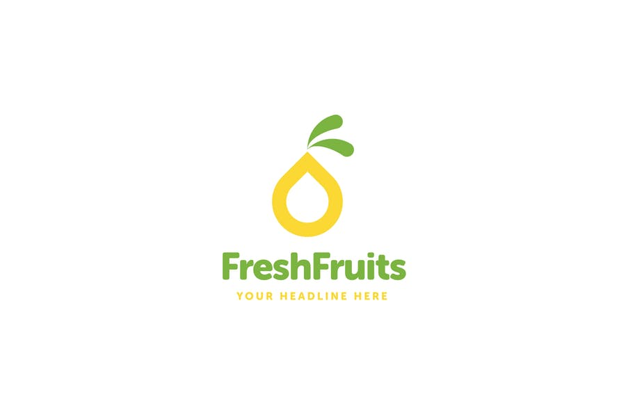 Modern Fruits Logo Template