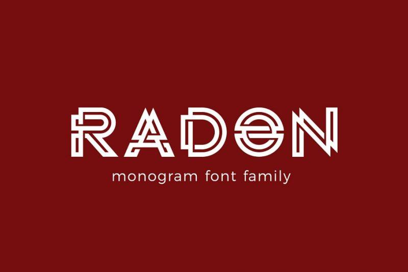 Monogram Font Logo Type