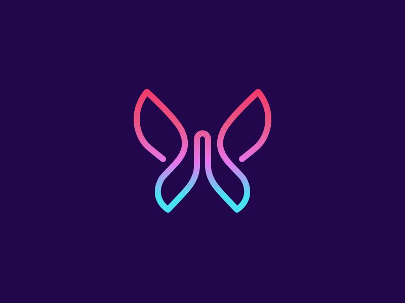 Monoline Butterfly Logo