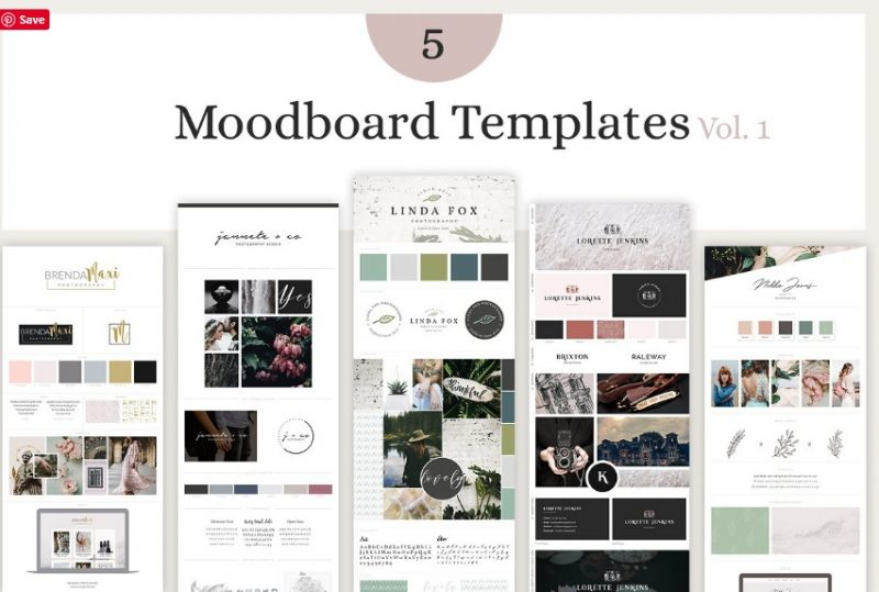 Mood Board Template Bundle