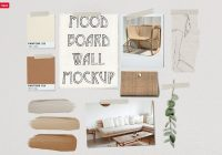Mood Board Wall Mockup PSD