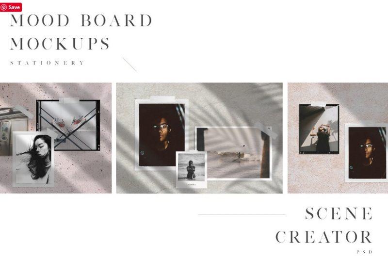 Mood Boards Set PSD