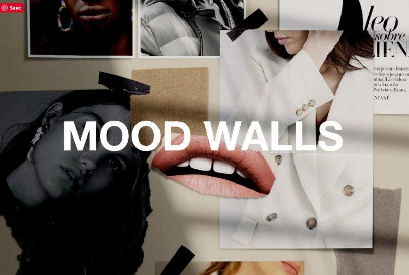 Mood Wall Mockup PSD