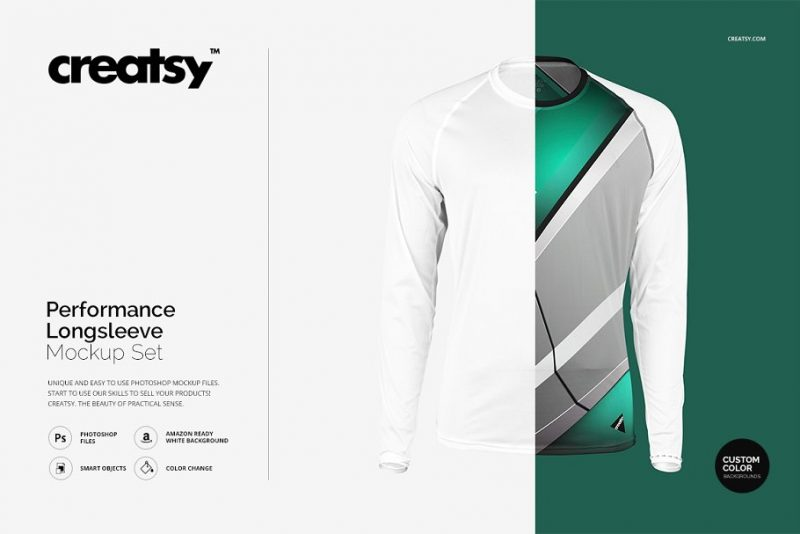 Performance Long Sleeve Shirt Mockup
