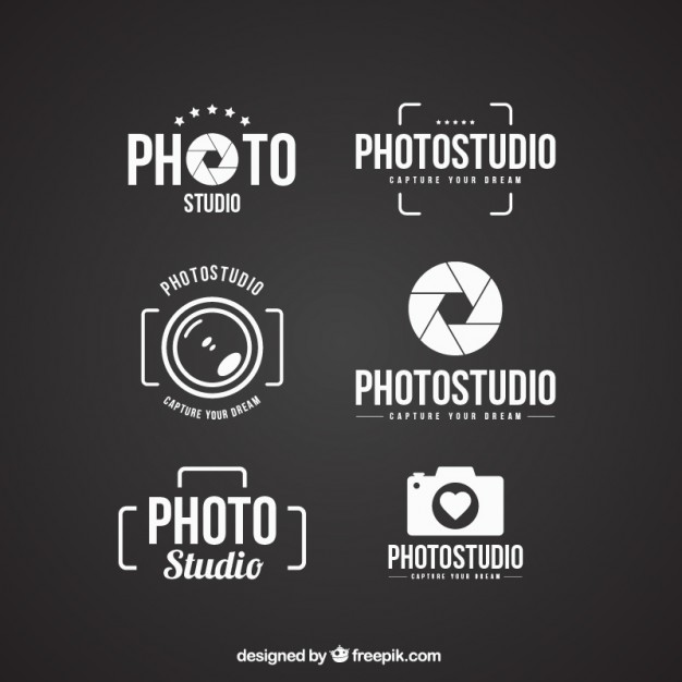 Photo Studio Logo Vector Set