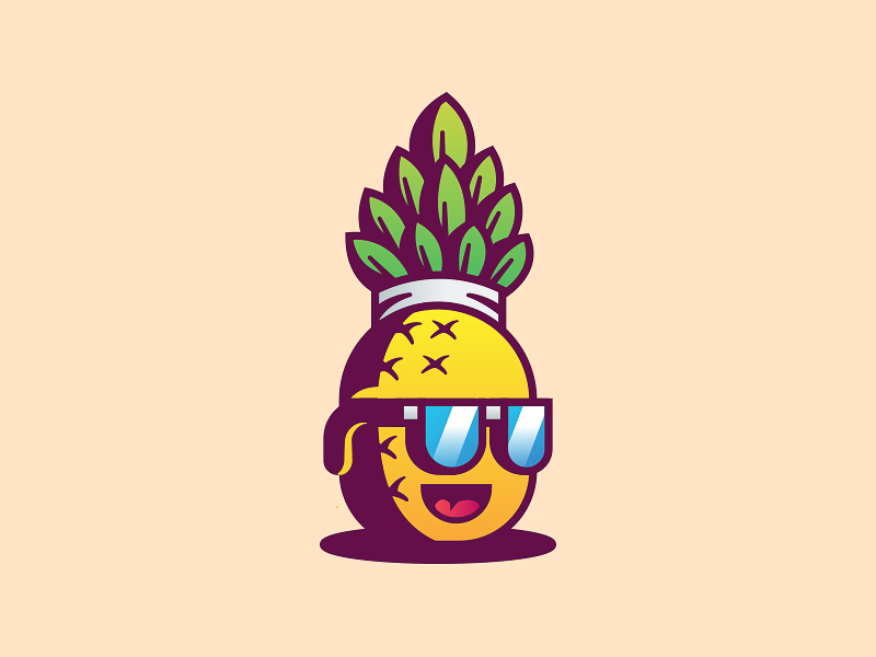 Pineapple Logo Design Idea