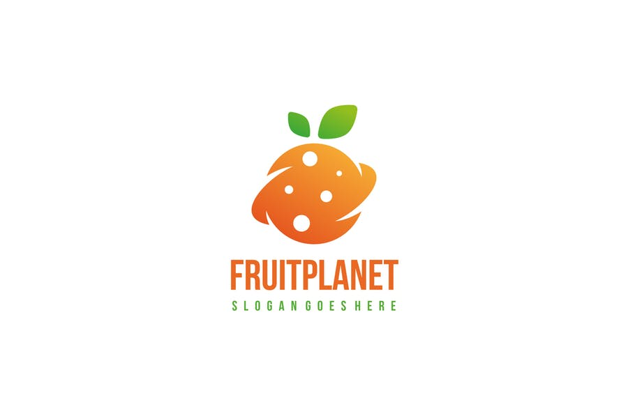 Planet Fruit Logo Sample