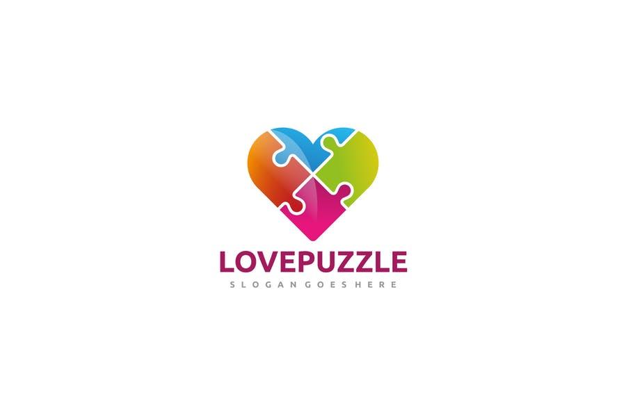 Puzzled Heart Logo Design