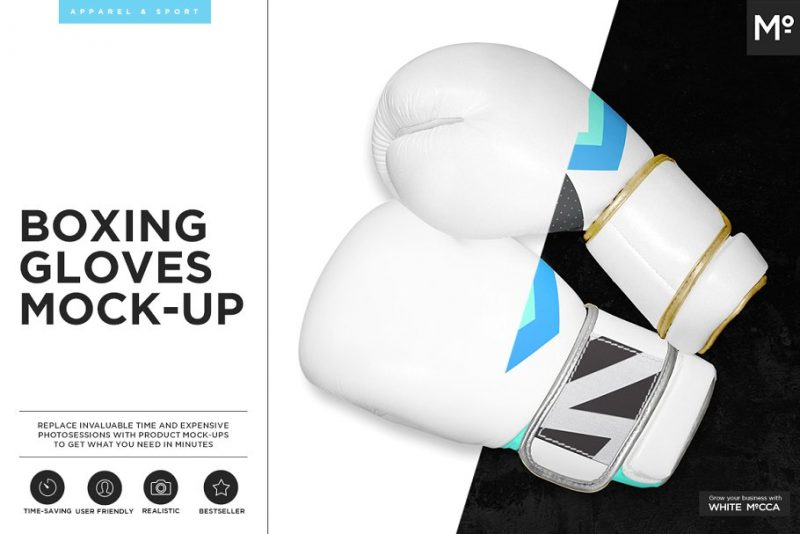 Realistic Gloves Branding PSD