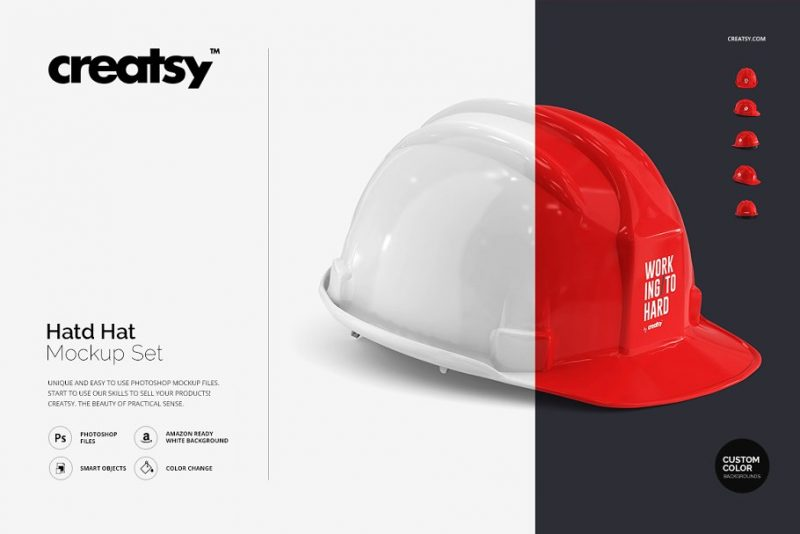 Safety Hat Mockup