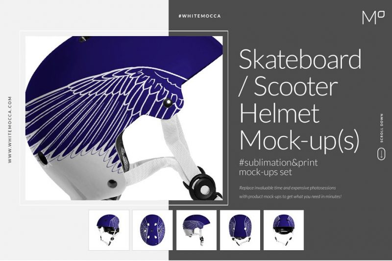 Scooter Helmet Mockup PSD