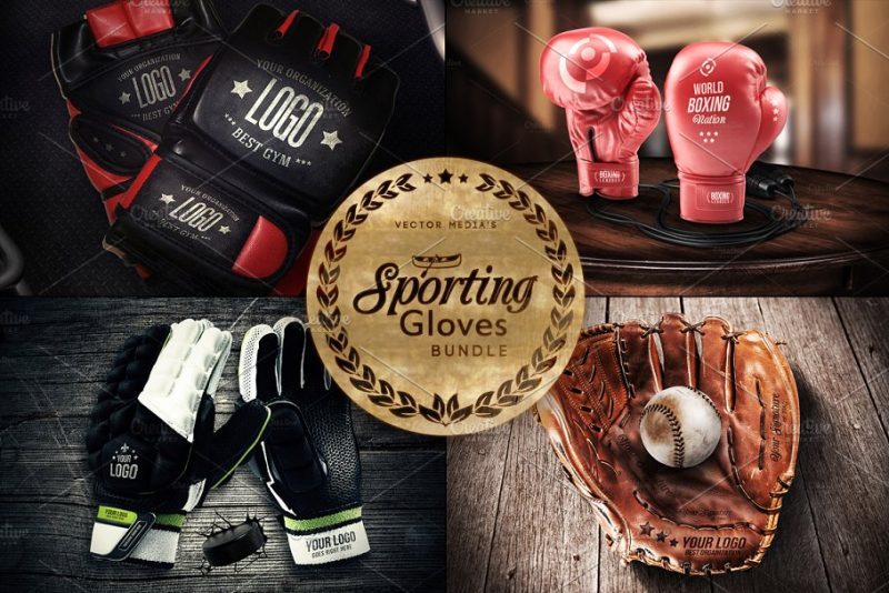 Sporting Gloves Mockup Bundle