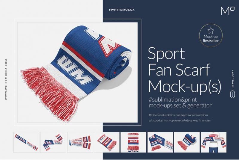 Sports Fan Scarf Mockup