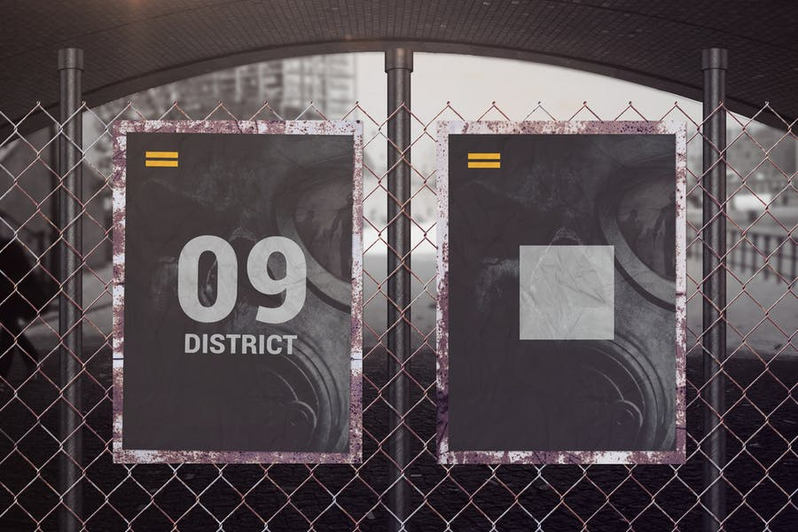 Street Poster Mockup PSD
