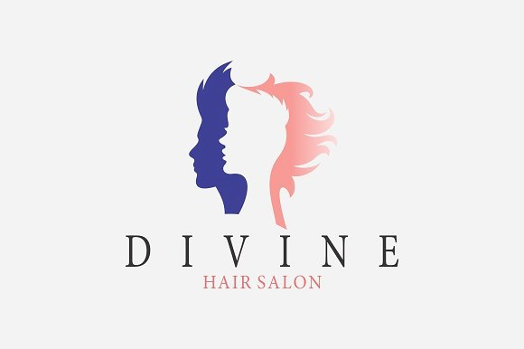 Stylish Hair Salon Logo Design