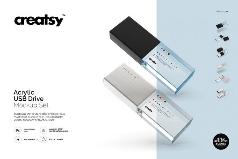 USB Drive Mockup Set