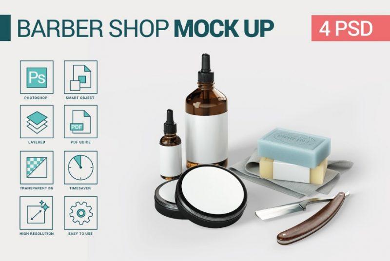Vintage Barber Shop Mockup