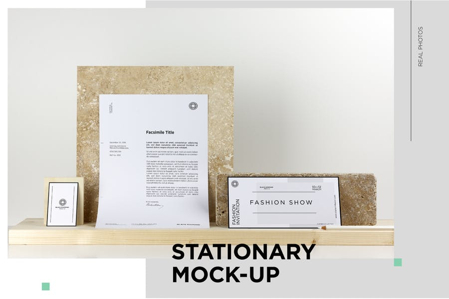 10 Unique Stationary Mockup Scenes