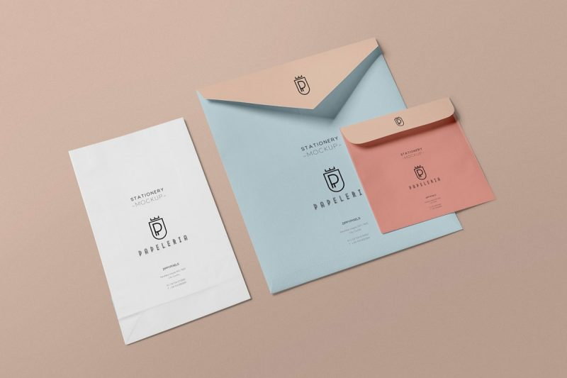4 Envelopes Mockup PSD