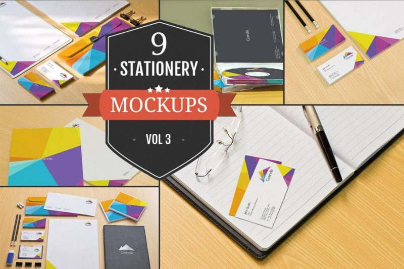 9 Stationary Branding Mockups