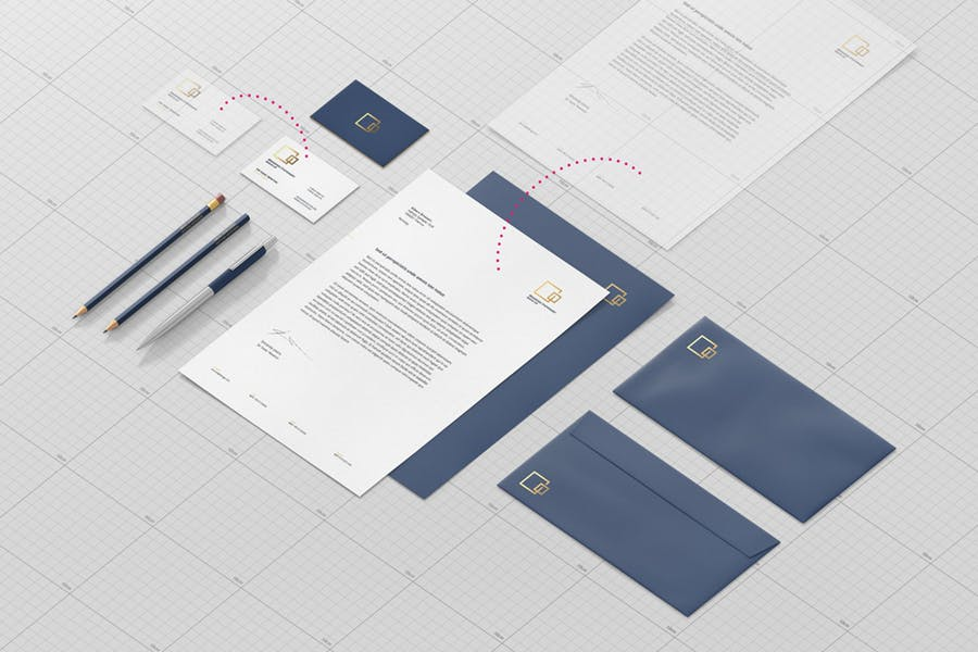 A4 Corporate Stationary Branding Mockup