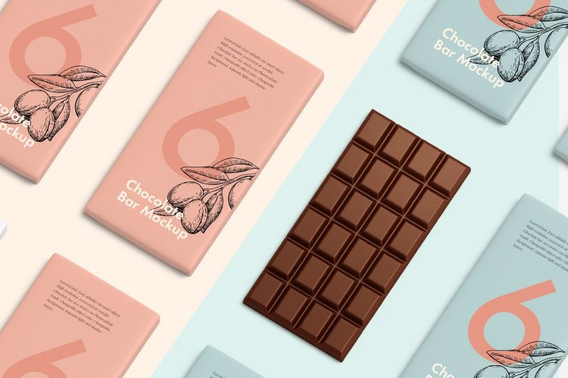 Chacolate Packaging Mockup PSD