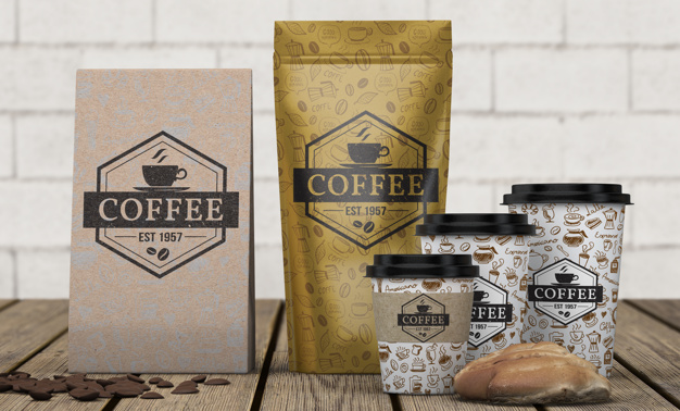 Free Coffee Stationary Mockup