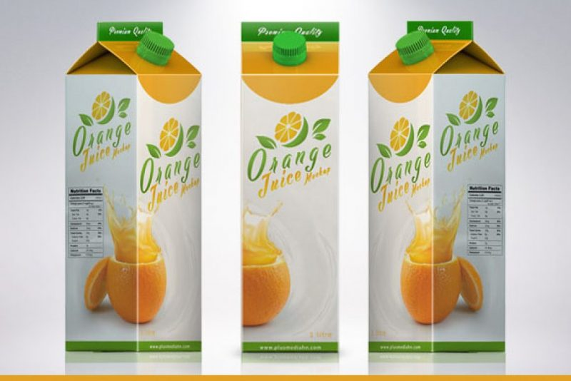 Juice Packaging Mockup PSD