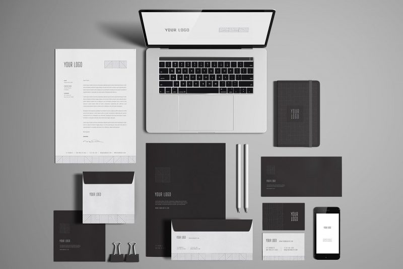 Office Stationary Mockup PSD