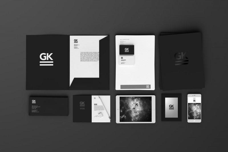 Stationary Branding Mockup PSD