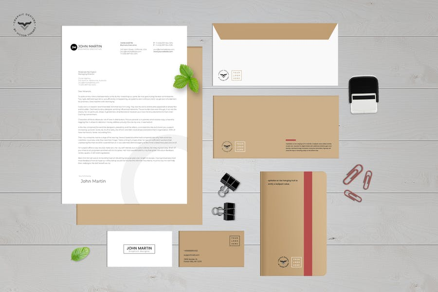 Stationary Kit Mockup PSD