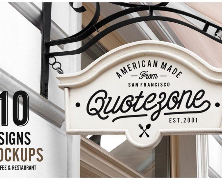 20+ Best Sign Mockup PSD for Store Branding