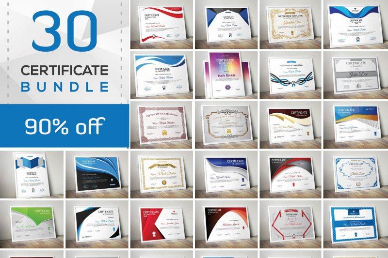 30 Certificates Templates Bundle
