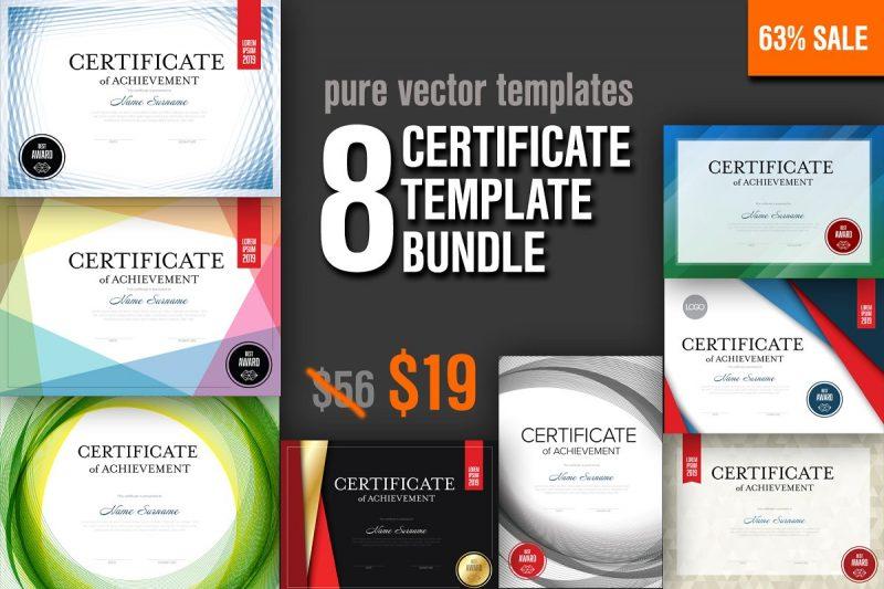 8 Modern Certificates Template Bundle