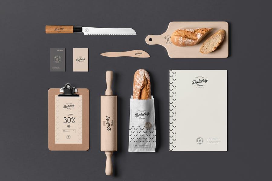 Bakery Branding Mockup PSD
